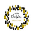 christmas sale background with gift boxes vector image