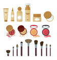 cosmetics make up set vector image