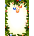 fir-tree and mistletoe vector image