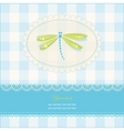 greeting card with copy space and dragonfly vector image