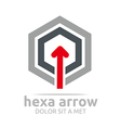 hexa arrow design element symbol icon vector image