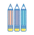 pencils colors school tool object design vector image