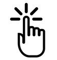 Pointing finger click icon vector image