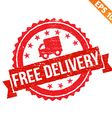 Rubber stamp free delivery - - EPS10 vector image