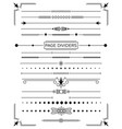 set of retro decorative page dividers and design vector image