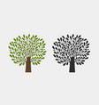 tree logo or symbol nature garden ecology vector image