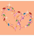 Two hearts associated with love vector image