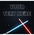 Your text here banner of light swords Neon for vector image