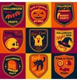 Halloween bright labels set with - ghost vector image vector image