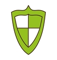 shield security system isolated icon vector image