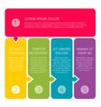 process steps business concept vector image