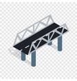 road bridge isometric icon vector image