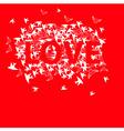 inscription love with bird vector image