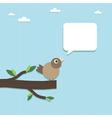 paper bird vector image vector image