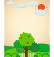 Apple trees in the garden vector image vector image