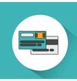 credit card money icon vector image