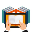 e-book technology vector image
