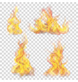 fire flame for light background vector image