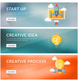 Flat design concept for start up creative idea vector image