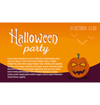 Greeting card or invitation Halloween party vector image