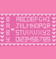 knitted abc alphabet knitting pattern girl pink vector image