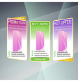 Modern web concept set of sale banners vector image