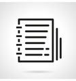 Organizer black line design icon vector image