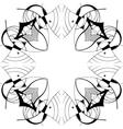 Ornamental square border vector image