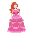 red-haired princess in elegant vector image