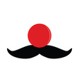 Red nose with mustache vector image