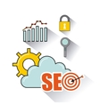 seo technology design vector image