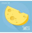 Swiss cheese icon vector image