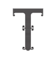The vintage style letter T vector image