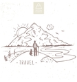 Mountain travel vector image vector image