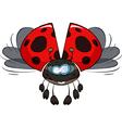 ladybird in flight vector image vector image
