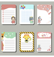 Set of cute creative cards with animals vector image