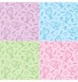 christmas hand drawn patterns vector image