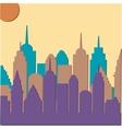 Morningt cityscape background vector image