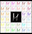 barber shop sign  felt-pen 33 colorful vector image