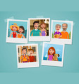 family photo album people parents and children vector image