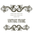 Vintage framing header and footer vector image vector image
