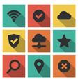 Icons Set Internet vector image