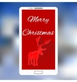 mobile phone with Christmas Design interface vector image