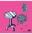 Vintage chair and table vector image vector image