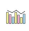 arrow with statistics diagram bar presentation vector image