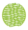 ball of yarn isolated icon design vector image