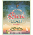 Beach bar ads flyer vector image