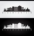 bloemfontein skyline and landmarks silhouette vector image