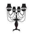 Classic Baroque lamp vector image