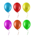 Colored balloon vector image